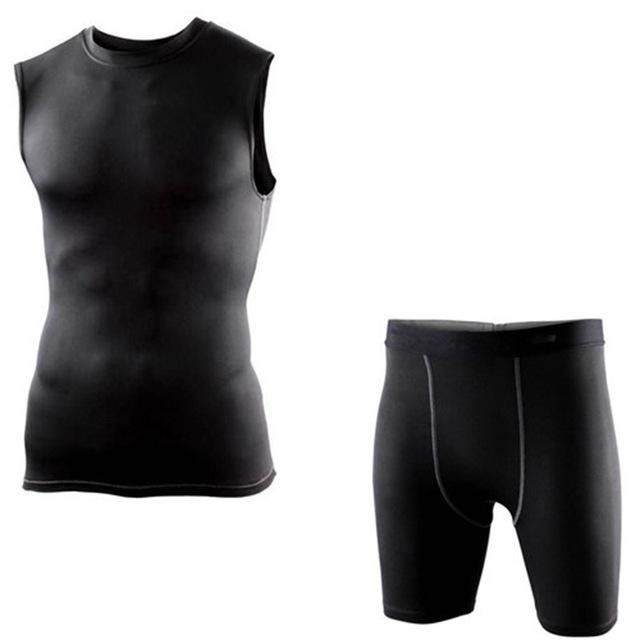 Мужские спортивный костюм сжатия базовый слой рукавов топы свободного покроя топы ...