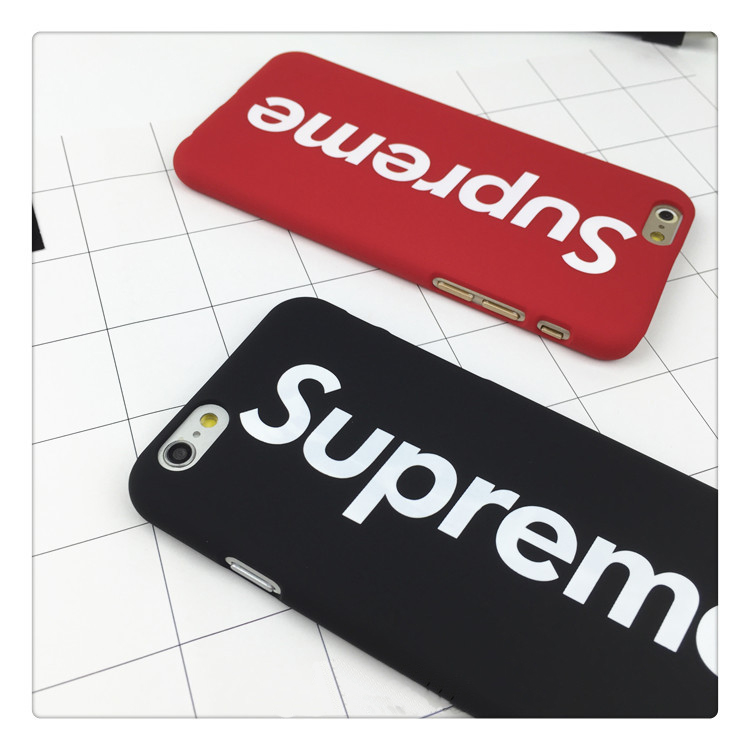 Fashional brand suprem mens case for iphone5s case for iphone 6 6s plus 7 7plus se 5 hard rubber stylish logo letter phone cover(China (Mainland))