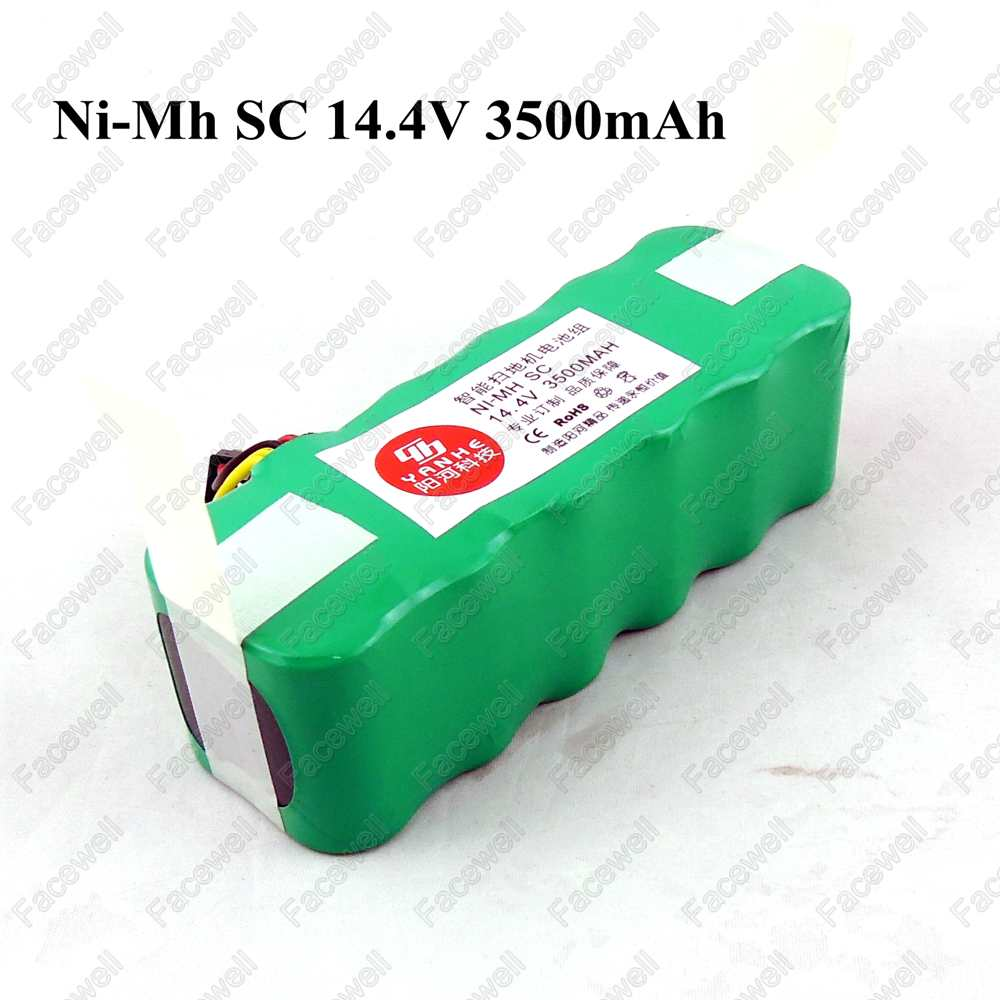 1piece 14.4v SC 3500mah Ni-mh 14.4v nimh battery rechargable battery for Vacuum cleaner sallei Dibea X500 X580 KK8 ecovacs cr120(China (Mainland))