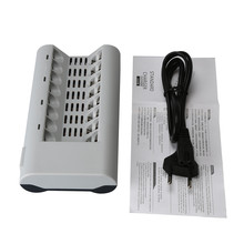 Hot Sale 8 Slots Battery Charger for AA / AAA Ni-MH / Ni-Cd Batteries Over-current protection Rechargeable Charger EU Plug #UO