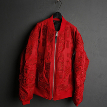 Miss Chen 2016 Men's clothing red jacket outerwear baseball winter(China (Mainland))