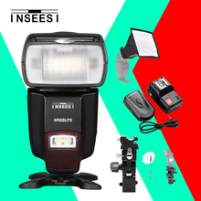 Buy INSEESI IN560IV Flash Speedlite + PT-04GY Channels Wireless Remote Flash Trigger Canon Nikon Sony Olympus Pentax Panasonic for $49.39 in AliExpress store