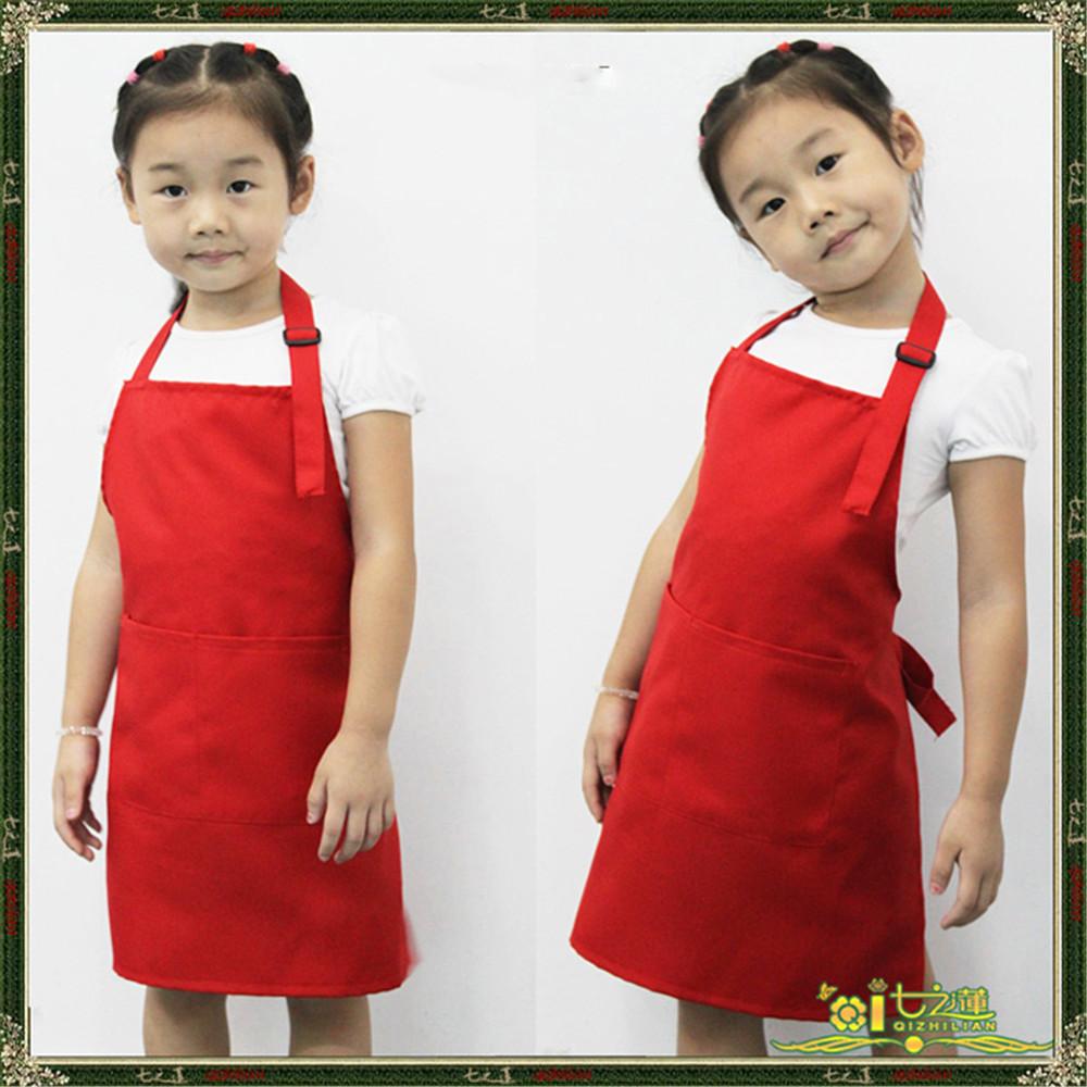 Cute Kids Children Kitchen Baking Painting Apron Baby Art Cooking Craft Bib New(China (Mainland))