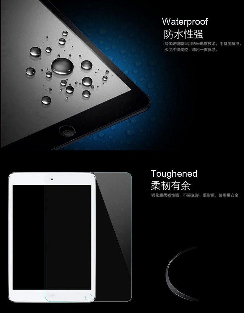 Toughened Glass Full Screen Film For Apple iPad Air Tempered Screen Protector for iPad Air2 Explosion Proof