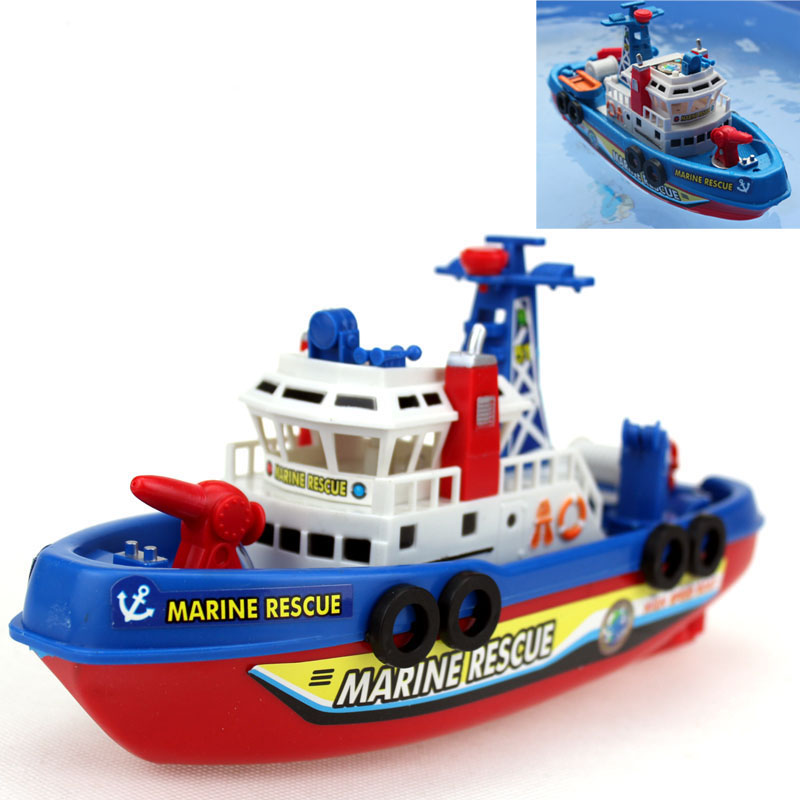 Free Shipping Electric Boat Fire Boat Model Children electric toy Boat navigation Non-remote warships at sea(China (Mainland))