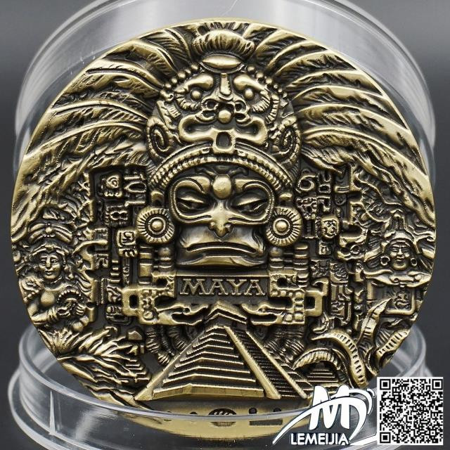 Super Huge The Maya Solar Corona Commemorative Coins Diameter 8cm Mexico Aztec Maya Prophecy Limited Edition Coin Free Shipping(China (Mainland))