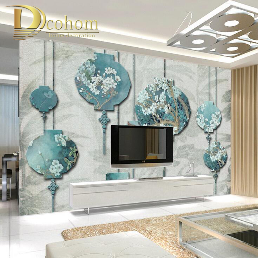 Nature wall murals promotion shop for promotional nature for Chinese mural wallpaper