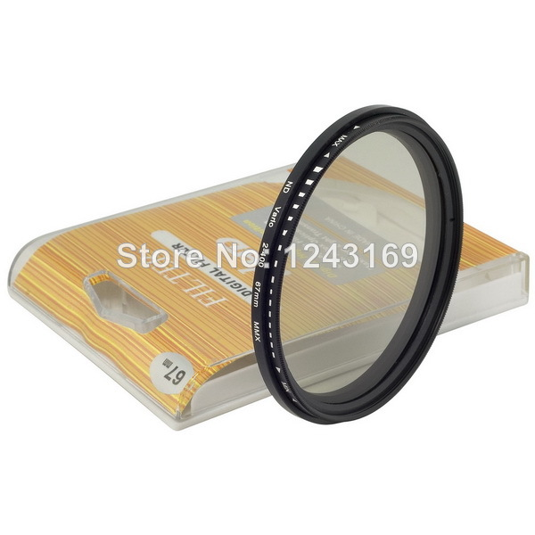 ND Filter 67mm Variable Neutral Density Lens Fader Adjustable ND2 to ND400 For Canon Nikon Pentax LF26-SZ+(China (Mainland))