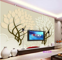 any sizel 3D romantic flower trees photo wallpaper mural Modern papel de parede 3d floral murals wall paper for living room(China (Mainland))