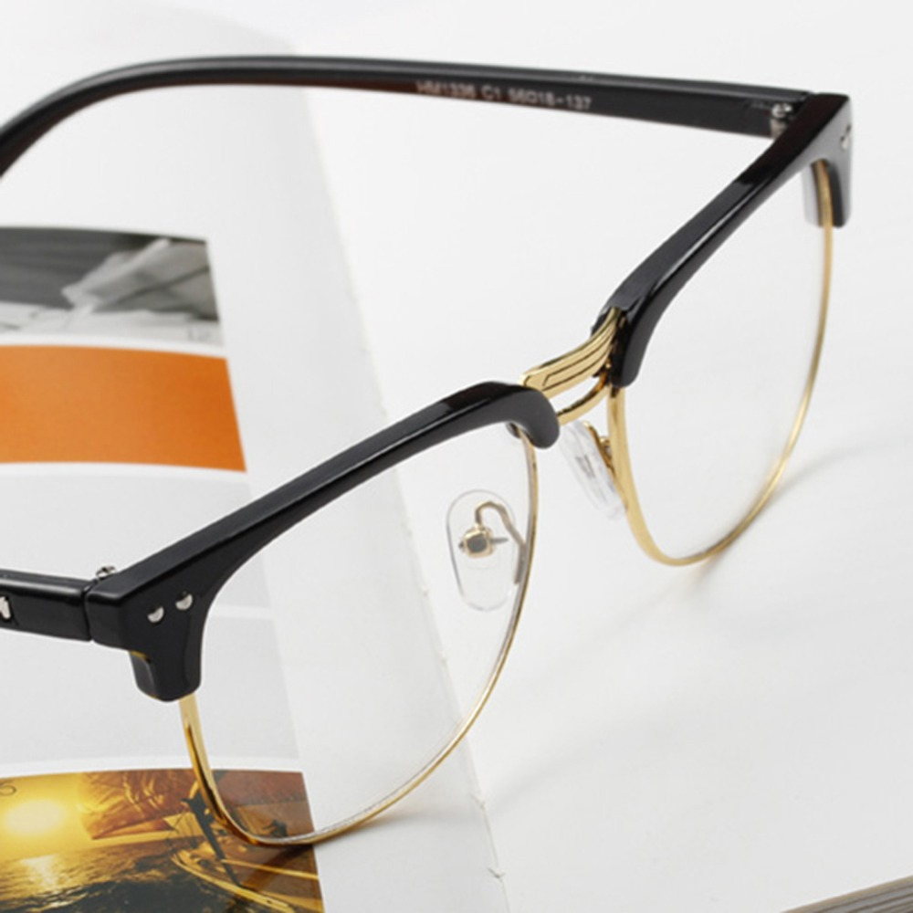 Half Frame Glasses Americas Best : Unisex Hipster Vintage Retro Classic Half Frame Glasses ...