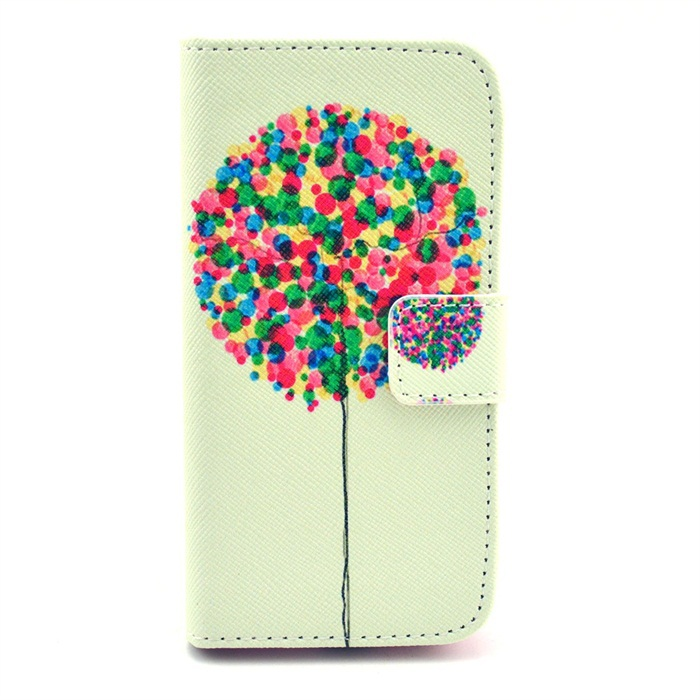For Sansung 9190 Fresh Style Printed Case For Samsung 9190 Stand Function PU Leather Flip Mobile Phone Cover Wallet Card Slot(China (Mainland))
