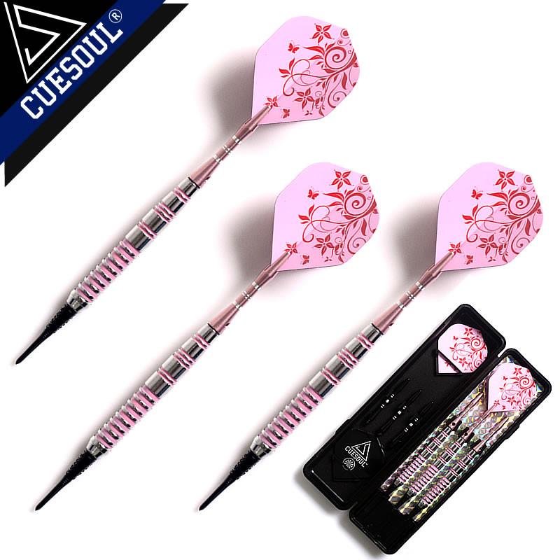 Professional Darts 17g 15cm 3pcs/set Soft Darts Electronic Soft Tip Darts With Aluminum Alloy Shaft Pink Color(China (Mainland))