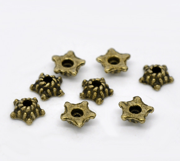 fashion jewelry making supplies star shape bead caps for