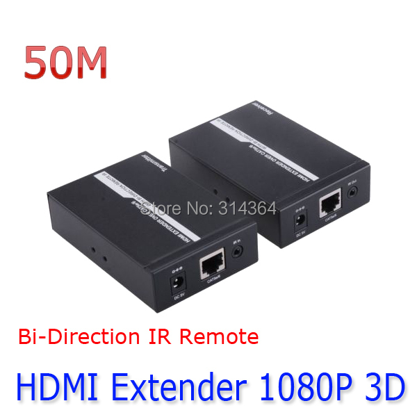HDMI EXTENDER IR over a Single CAT5e/6 Ethernet Cable 50M Bi-Direction IR Remote HDCP 1080P(China (Mainland))