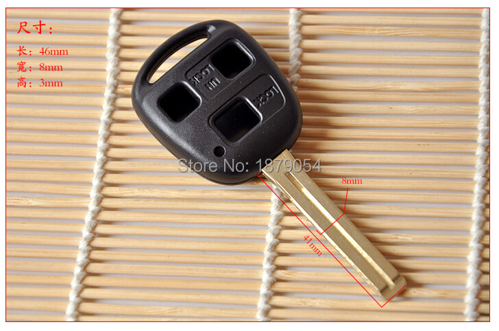 3 Button Toyota remote key Shell 3 button TOY48 Long Blade  (11).jpg