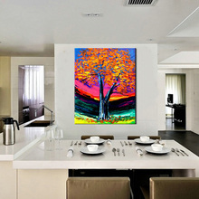 Buy Abstract modern decorative acrylic hand painted tree pictures wall decoration oil hand painting canvas living room wall for $67.15 in AliExpress store