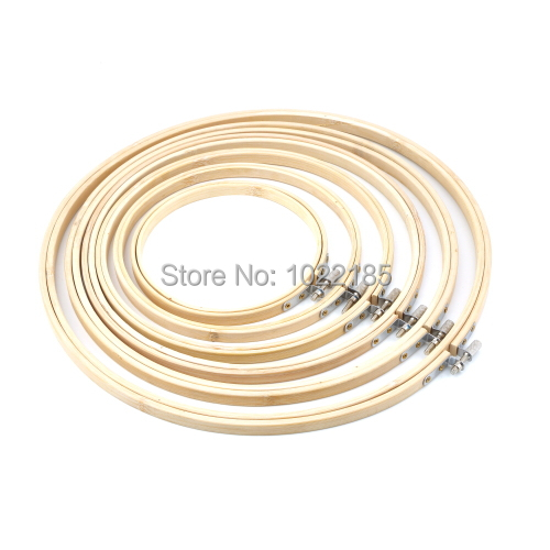 Handy Wooden Cross Stitch Machine Embroidery Hoop Ring Bamboo Sewing 13-30cm(China (Mainland))