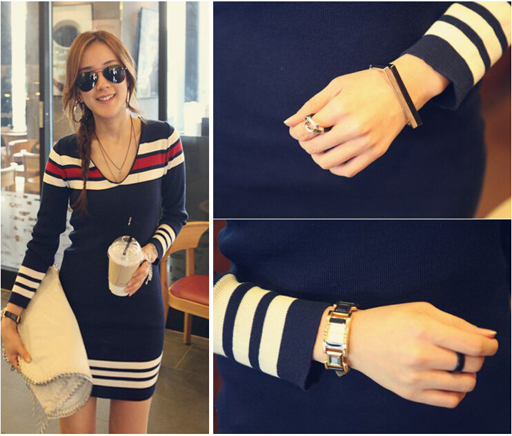 Red And White Striped Sweater Dress Red And White Striped Navy