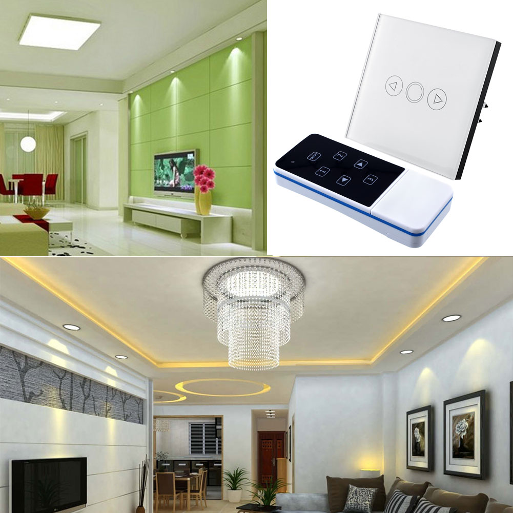 1 Gang Light Lamp Home Office Touch Sensor Switch Remote Efficient Dimmer White Glass Panel Fashion EU(China (Mainland))