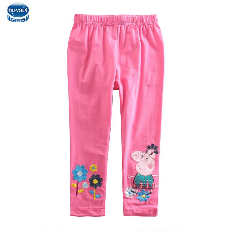 Nova Brand Fashion Casual Girl Legging New Children Capris Pants Colorful Solid Pants Baby Girl Print Cotton baby pants(China (Mainland))