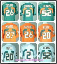 Mens College Jerseys Andre Johnson#5 Ed Reed#20 McGAHEE#2 Ray Lewis#52 Reggie Wayne#87 Sean Taylor#26(China (Mainland))