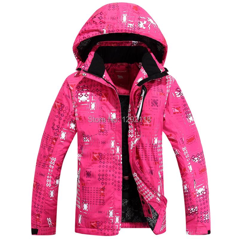 2015 snowboard jacket sky blue pink ski suit women mountain skiing and snowboarding coat warm snow board chaqueta esqui mujer(China (Mainland))