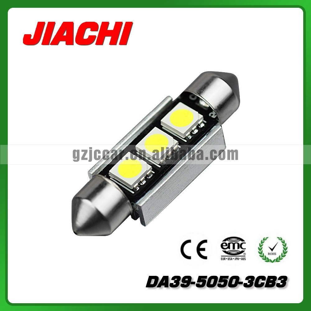 High performance and bright powerful canbus 3pcs 5050smd DA39 festoon led lighting bulbs(China (Mainland))