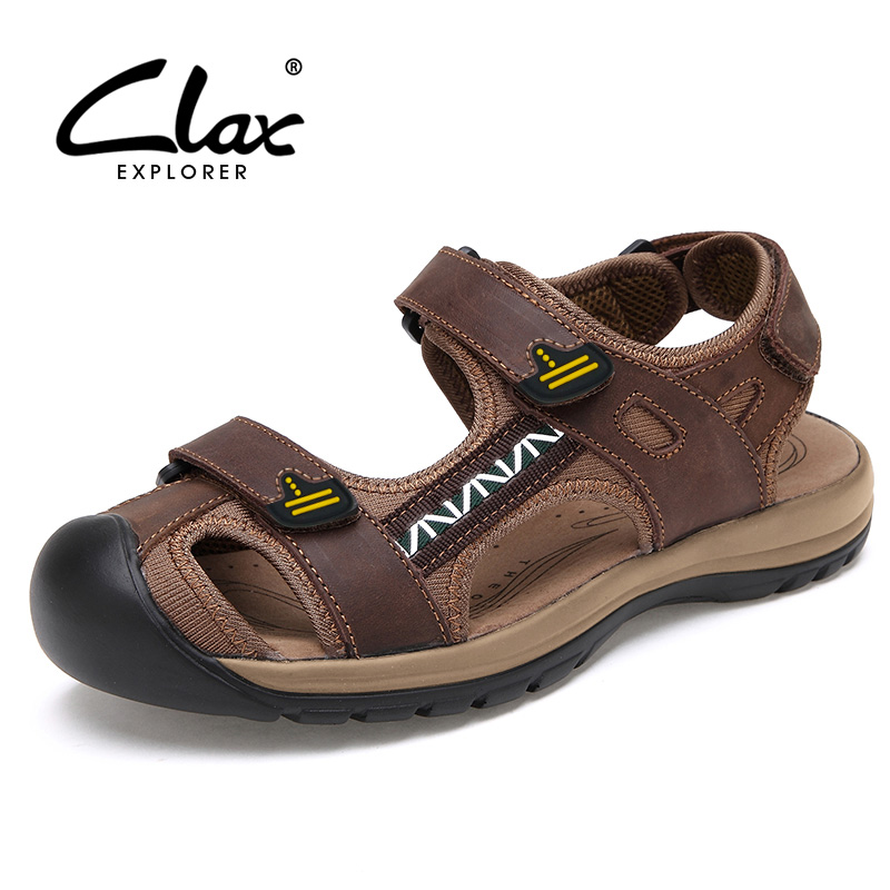 Mens fisherman sandals genuine leather 2016 summer men's casual shoe breathable leather sandals for male classical(China (Mainland))