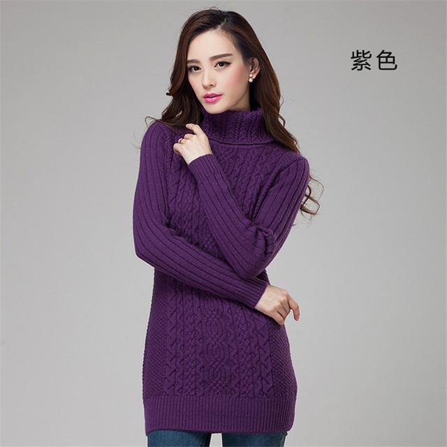 Женщин основной свитер сплошной цвет тонкий плоские трикотажные с длинными рукавами ...