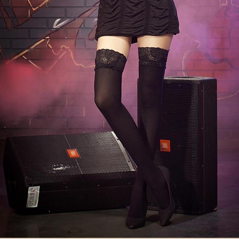 Free shipping Women Fashion Ultrathin Lace Top plus size Thigh High Silk Sexy Stockings Long thigh stocking garter A578(China (Mainland))