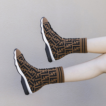 ร้อนขายใหม่แฟชั่นสำหรับฤดูใบไม้ร่วงฤดูหนาวหญิงถุงเท้าและรองเท้ายืดบินผ้าแฟชั่นสไตล์ยุ...(China)