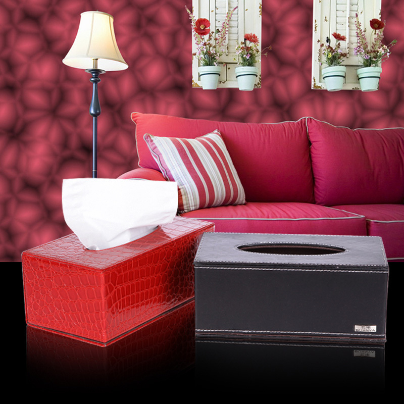 Freeshipping new style leather Europe tissue box high quality napkin box(China (Mainland))