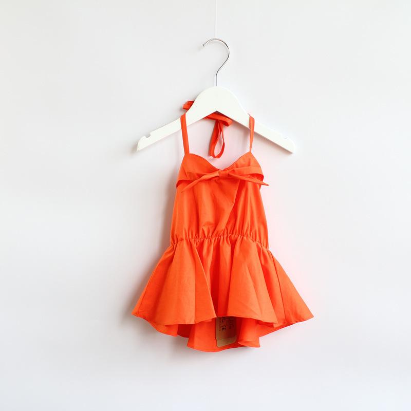 2014 New summer,girls beach slip dress,children fashion tee dress,bow,1-8 yrs,6 pcs / lot,wholesale,1482<br><br>Aliexpress