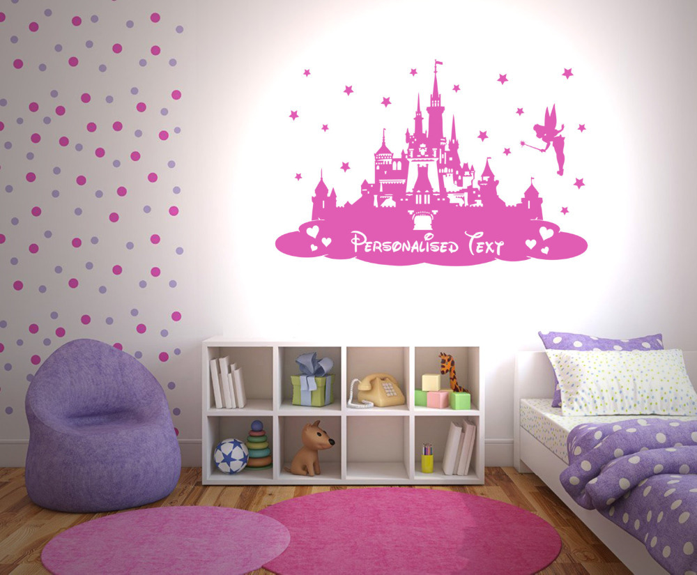 custom personalized kids name princess castle nursery