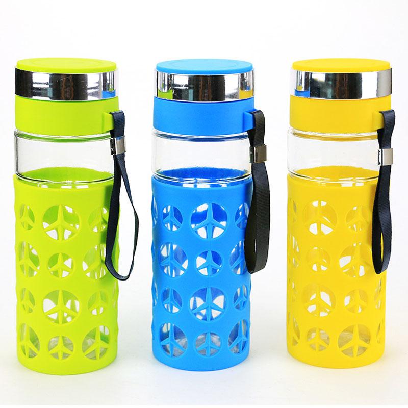 Creative Travel Outdoor Water Bottles Portable Dog Cat: Creative Portable Glass Water Bottle 800 ML Creative Water