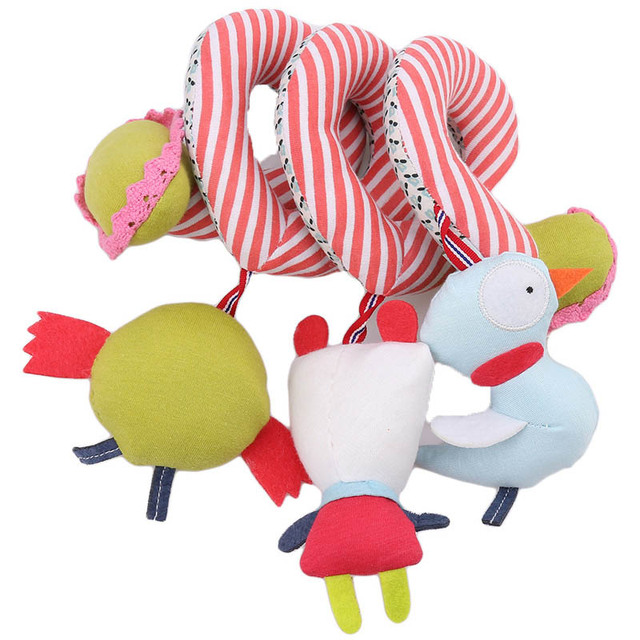 2016 New Infant Toys Baby Crib Revolves Around The Bed Stroller Playing Toy Car Lathe Hanging Baby Rattles Mobile 0-12 months