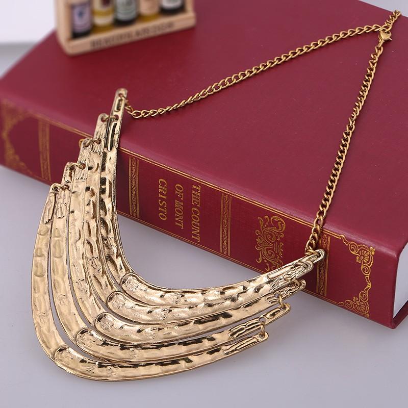 Колье роковой Ethnique 2016 мода ожерелье этнические ожерелье старинные серебряные позолоченные 5 слоя сеть себе ожерелье для женщин