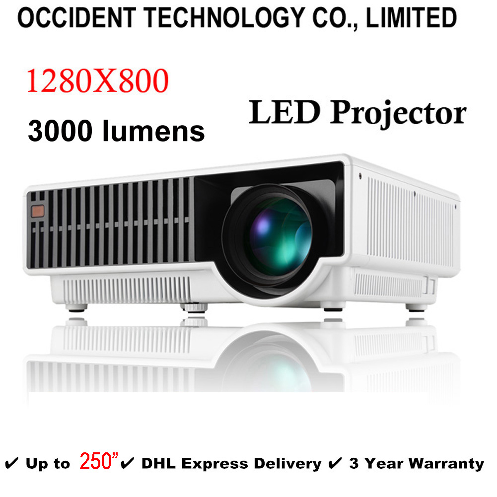 250 Analog TV Brightest 3000Lux Full HD DLP Business Advertising Education show 3D Projector Beamer Projektor Proyector