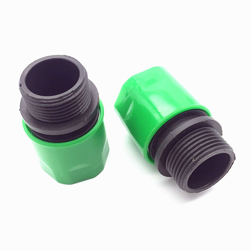 2 pcs garden Quick Connectors Irrigation Hose Connect Couping Pipe With G3 / 4 Supply Garden Male Thread Connector Watering(China (Mainland))