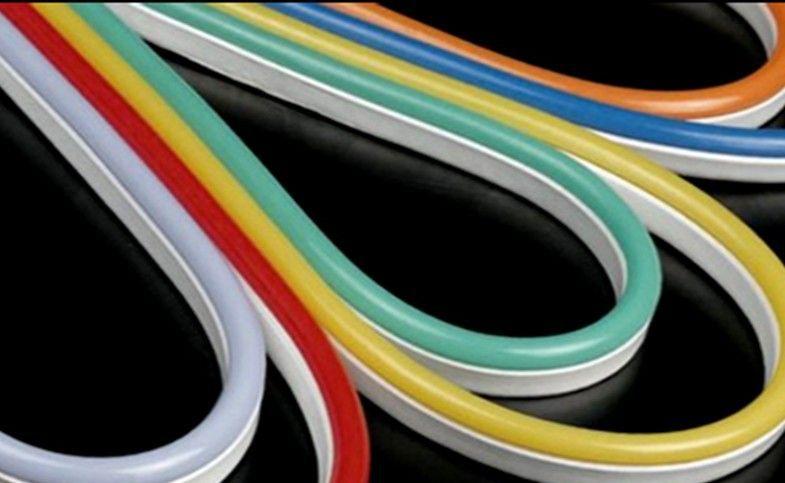 Super bright 110v SMD soft led neon decoration rope120leds/m color jacket IP67 led neon flex tube with white PVC base edge(China (Mainland))