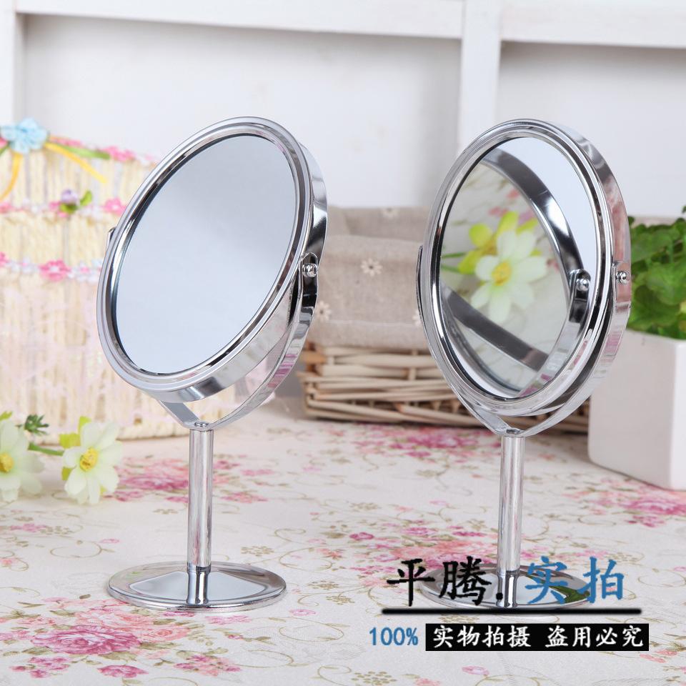Wholesale trumpet metal vanity mirror desktop double sided for Wholesale mirrors