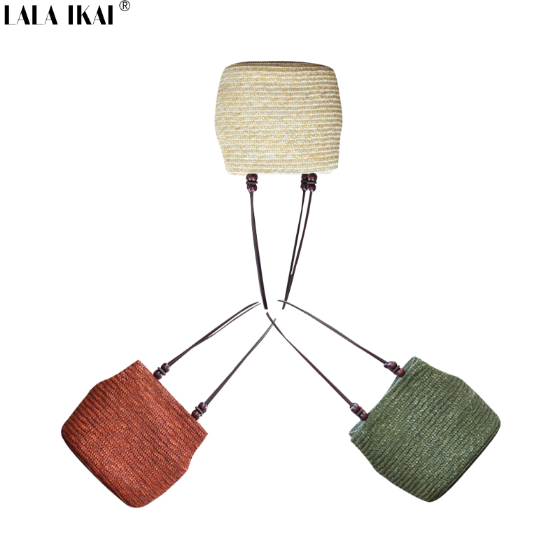 2016 New Vintage Women Handbag Fashion Shopping Tote Beach Bag Fresh Casual Bucket Straw Tote Bag Summer Shoulder Bag BWA0200(China (Mainland))