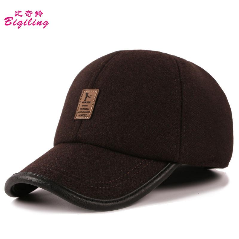 broncos baseball hat with ear flaps cap fleece lined winter hats font