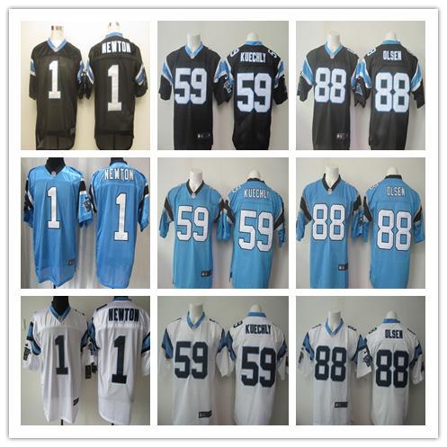 2016 elite Men Carolina panthers 1 Cam Newton 59 Luke Kuechly 24 Josh Norman 88 Greg Olsen embroideried Logo, free shipping(China (Mainland))