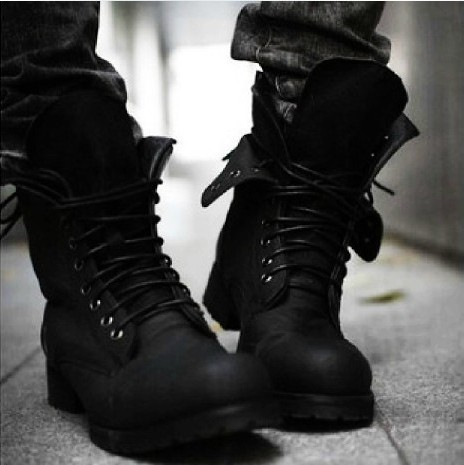 Hot! Retro Punk Combat Winter Men's boots England-style Casual shoes --free shipping(China (Mainland))