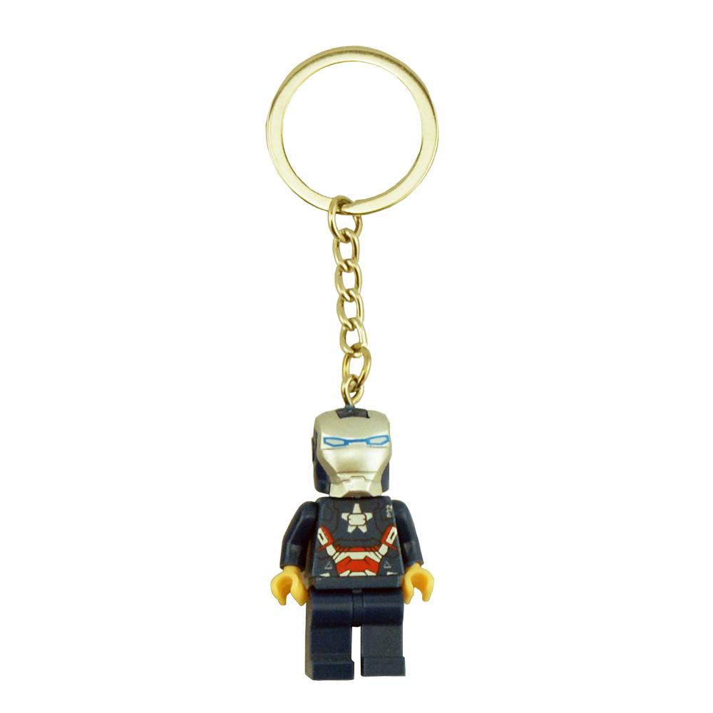 Model KR 8pcs/lot Iron Man Keychain Tremendous Hero Avenger Child Child Toy Constructing Blocks Units Mannequin Toys Minifigures Brick