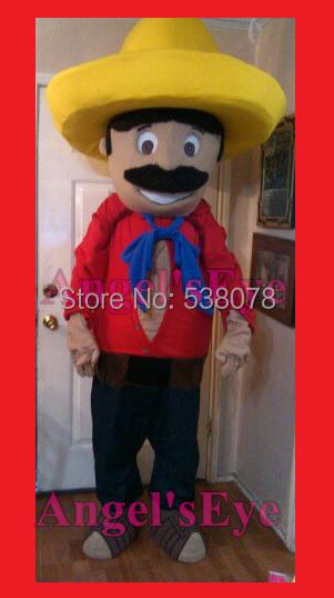mexican Mascot Costume Adult Farmer Theme Cartoon mexican man Anime Cosplay Dress Carnival Birthday Party Fancy Dress Kits(China (Mainland))