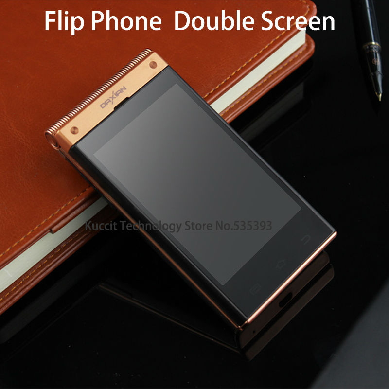 Gifts Original Daxian W189 Flip mobile phone Dual OS Dual Screen MTK6572 WCDMA 5MP Android 4.2 senior cellphones Russian polish(China (Mainland))
