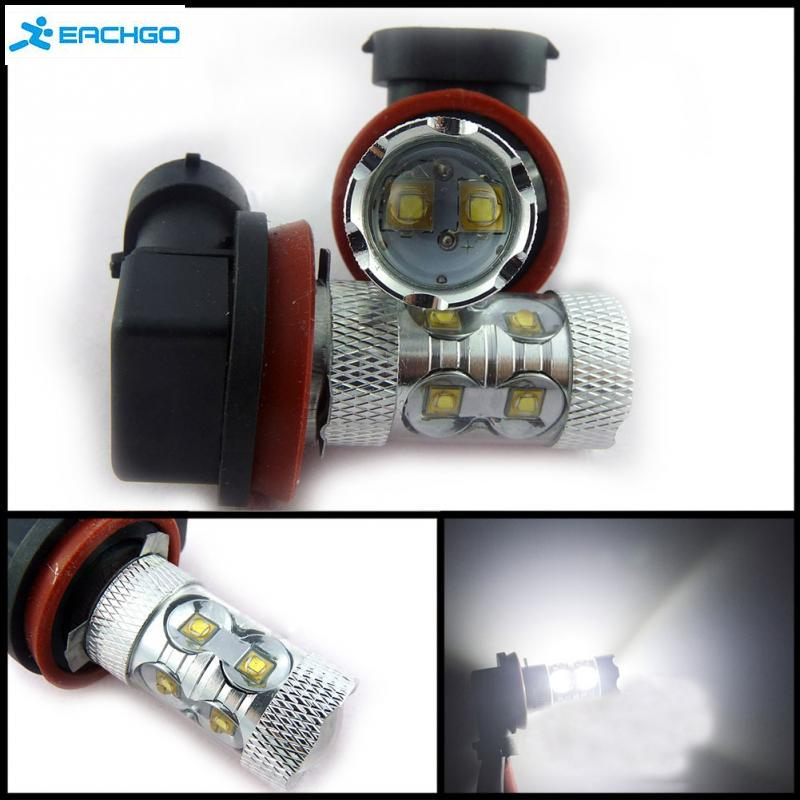 2016 General Type 12VDC H8 / H11 50W Fog Light LED Headlight Fog Driving Lights Bulb With 360 Degree of light Improve Visibility(China (Mainland))