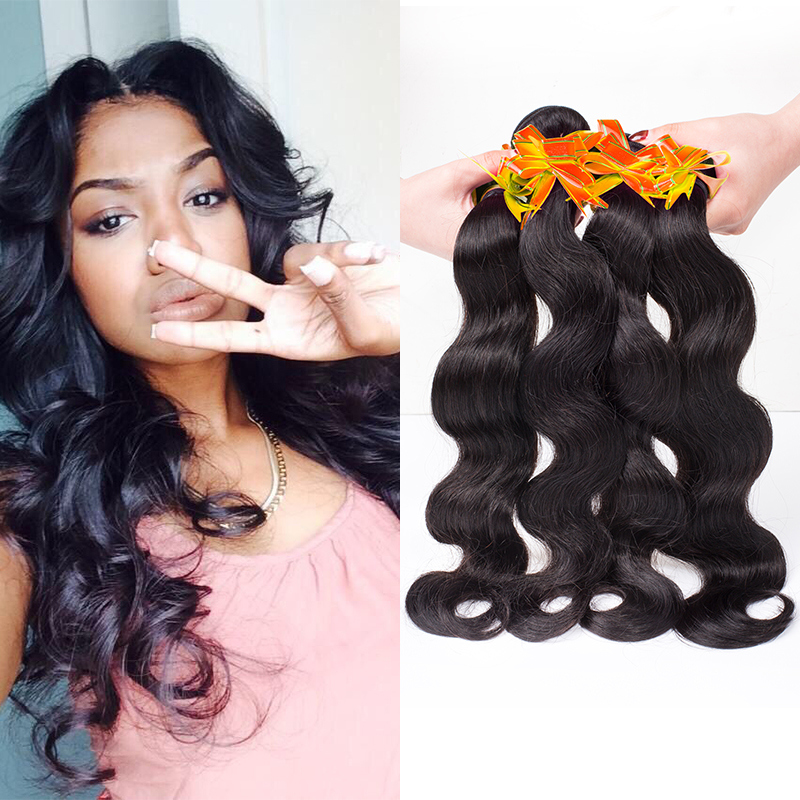 Brazilian Virgin Hair Body Wave 4pcs Remy Queen Hair Products Brazilian Body Wave Unprocessed Human Hair Weave 6A Brazilian Hair